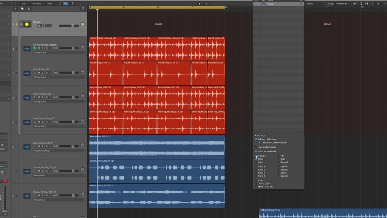 Multi-Track Drums in Logic Pro X