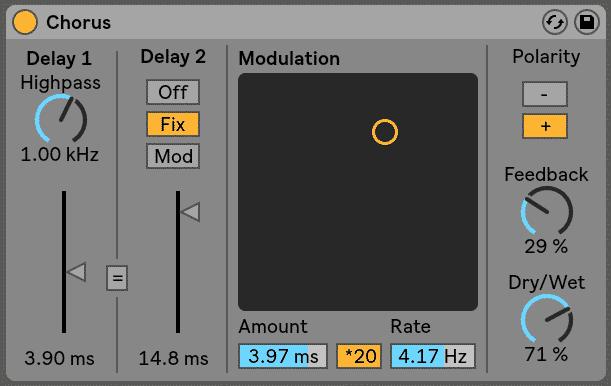 Ableton Chorus Effects