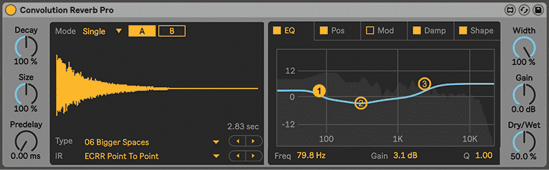 Convolution Reverb in Ableton Live