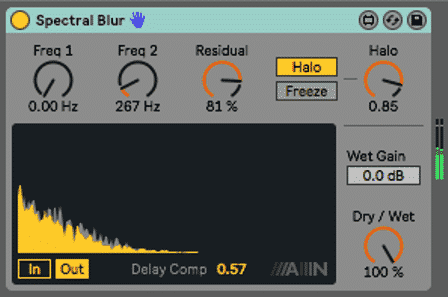 Spectral Blur in Ableton's Free Sample Pack